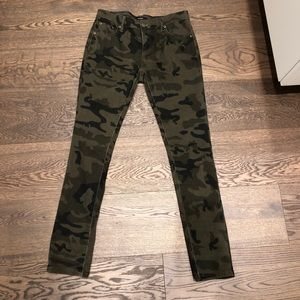 Army camouflage skinny jeans from forever 21
